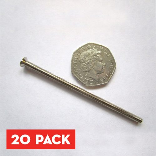 3.5 x 75mm Nickel Plated Screws